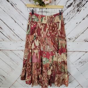 Soft Surroundings Floral Maxi Skirt PXS